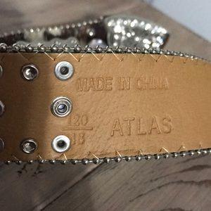 atlas Accessories - Cowhide Rhinestone Belt